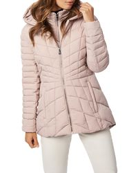 Bernardo Micro Touch Water Resistant Quilted Jacket - Pink