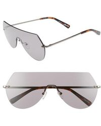 Elizabeth and James - Johnston 138mm Rimless Shield Sunglasses - Lyst