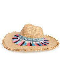 Steve Madden - Festival Flair Panama Hat - Lyst