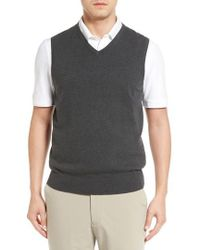 Cutter & Buck - Lakemont V-neck Sweater Vest - Lyst