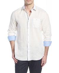 Bugatchi - Shaped Fit Linen Sport Shirt - Lyst