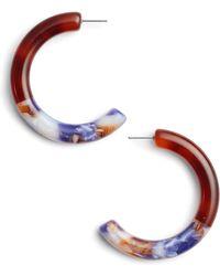 Lele Sadoughi - Marquis Front Hoop Earrings - Lyst