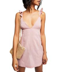 Free People - Endless Summer By Jose Linen & Cotton Minidress - Lyst