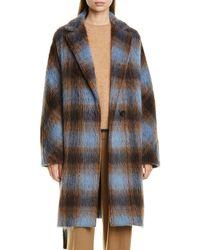 Vince Belted Plaid Coat - Multicolour