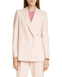 7fc40d7f447 Theory Admiral Crepe Lace-up Suit Jacket in White - Lyst