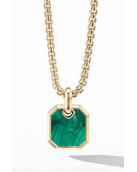 David Yurman Roman Amulet In 18k Yellow Gold With Malachite - Metallic