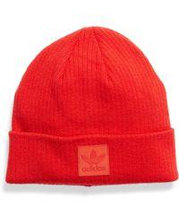 adidas Originals Rib Ii Trefoil Beanie - Red