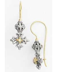 Konstantino - 'classics' Diamond Maltese Cross Drop Earrings - Lyst