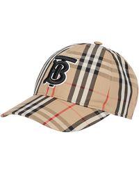 Burberry Vintage-check Cotton Baseball Cap - Multicolour