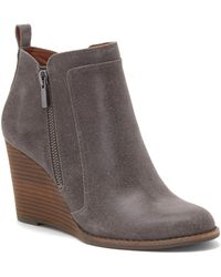 Lucky Brand - Yahir Wedge Bootie - Lyst