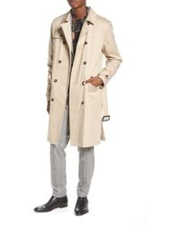 TOPMAN - Peached Trench Coat - Lyst