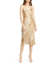 L'Agence Jodie Cheetah Print Silk Slipdress - Multicolor