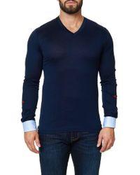 Maceoo | Long Sleeve V-neck | Lyst