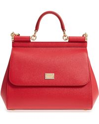 Dolce & Gabbana - Small Sicily Leather Satchel - Lyst