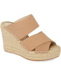 Kenneth Cole Olivia Wedge Slide Sandal - Natural