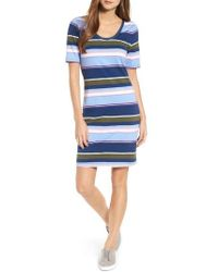 Tommy Bahama - Stripe Scoop Neck Dress - Lyst
