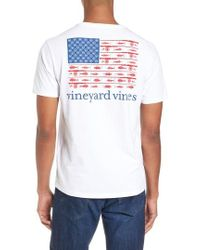 Vineyard Vines - Fishing Flag Graphic Pocket T-shirt - Lyst