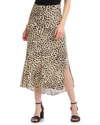 Karen Kane Leopard Print Bias Cut Skirt - Multicolor