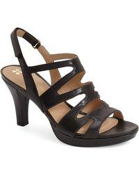 Naturalizer 'pressley' Slingback Platform Sandal - Black