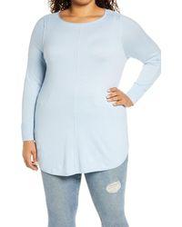 Caslon Caslon Shirttail Tunic - Blue