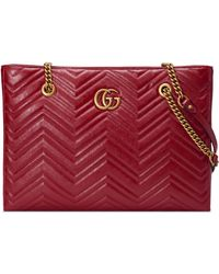 Gucci - Gg Marmont 2.0 Matelasse Medium Leather East/west Tote Bag - Lyst