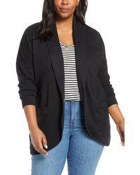 Caslon Caslon Knit Jacket - Black