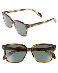 Alexander McQueen - 53mm Square Sunglasses - Avana - Lyst