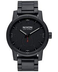 Nixon - 'patriot' Round Bracelet Watch - Lyst