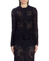Dolce & Gabbana Sheer Lace Cardigan - Black