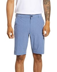 7 Diamonds Aeroplane Slim Fit Hybrid Shorts - Blue