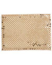 Whiting & Davis - Faux Leather & Mesh Card Case - Metallic - Lyst