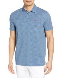1c4c314ca597 Lyst - Ted Baker  missow  Slim Fit Woven Collar Polo in Gray for Men