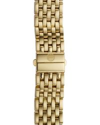 Michele - Deco 16 16mm Gold Plated Bracelet Watchband - Lyst