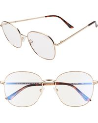 Quay Jezabell 53mm Glitter Aviator Blue Light Blocking Glasses - Multicolour