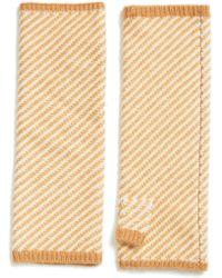 Eileen Fisher - Stripe Cashmere & Wool Glovelettes - Lyst