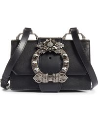9201f9092850 Miu Miu - Madras Crystal Embellished Leather Shoulder Bag - Lyst