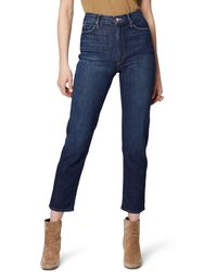 Mother - The Dazzler High Waist Ankle Straight Leg Jeans - Lyst