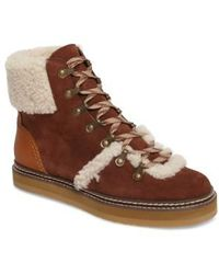 See By Chloé - 'eileen' Genuine Shearling Boot - Lyst