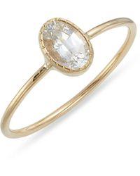 Jennie Kwon White Sapphire Ring - Metallic