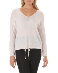 The White Company - Tie Hem Sweater - Lyst