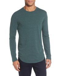Goodlife - Triblend Scallop Long Sleeve Crewneck T-shirt - Lyst