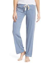 Joe's Wide Leg Pajama Pants - Blue