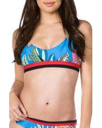 Trina Turk - Tahiti Tropical Bralette Bikini Top - Lyst