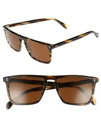 Oliver Peoples - Bernardo 54mm Polarized Sunglasses - Cocobolo/ Java - Lyst