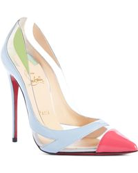 0ccab3a03ac9 Lyst - Christian Louboutin Cross Blake 100mm Patent Red Sole Pump in ...