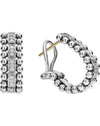 Lagos - Caviar Spark Diamond Huggie Earrings - Lyst