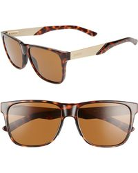 Smith Lowdown Steel 56mm Chromapoptm Polarized Sunglasses - Dark Tortoise/ Brown