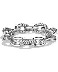 David Yurman 'oval' Extra Large Link Bracelet - Metallic