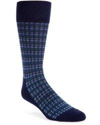 Nordstrom - Houndstooth Stripe Socks - Lyst