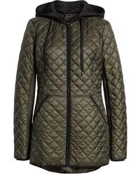 MICHAEL Michael Kors - Diamond Quilted Hybrid Hooded Jacket - Lyst